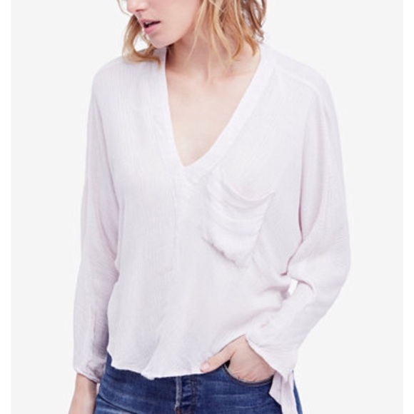 Free People Gauzy Dolmain Sleeve Blouse